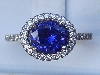 Ring set with Blue Sapphire CZ