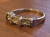 Ring set with Citrine Princess CZ