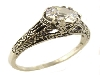 Sterling filigree 6x6 Old Mine Cut Ring