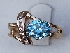 8mm round blue topaz