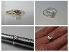 7mm Light Champagne Asscher Silver Ring