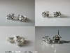 6mm Warmer Asscher Argentium Earrings