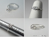 7.5mm Warmer OEC 4 Prong Silver Ring