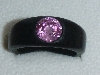 pink ebony ring cz 8mm